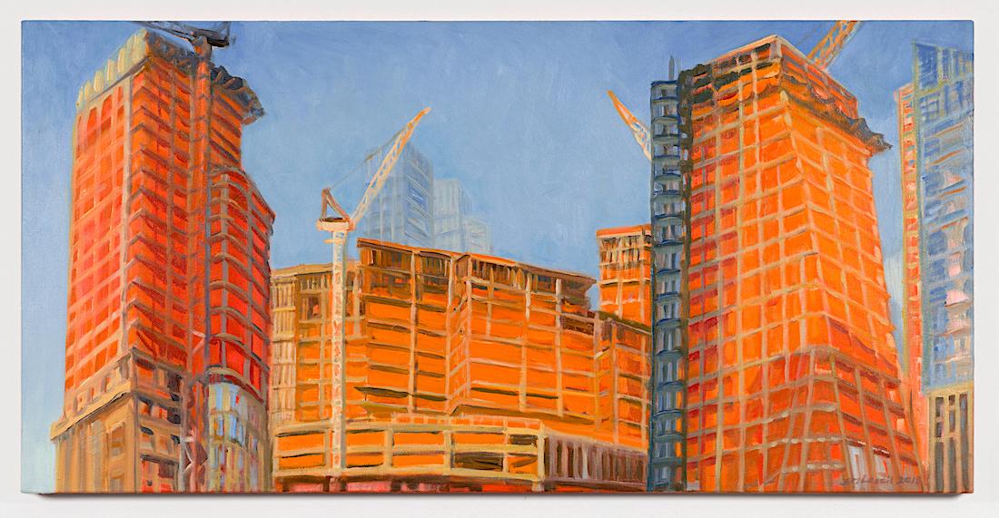 A large orange building  Description automatically generated