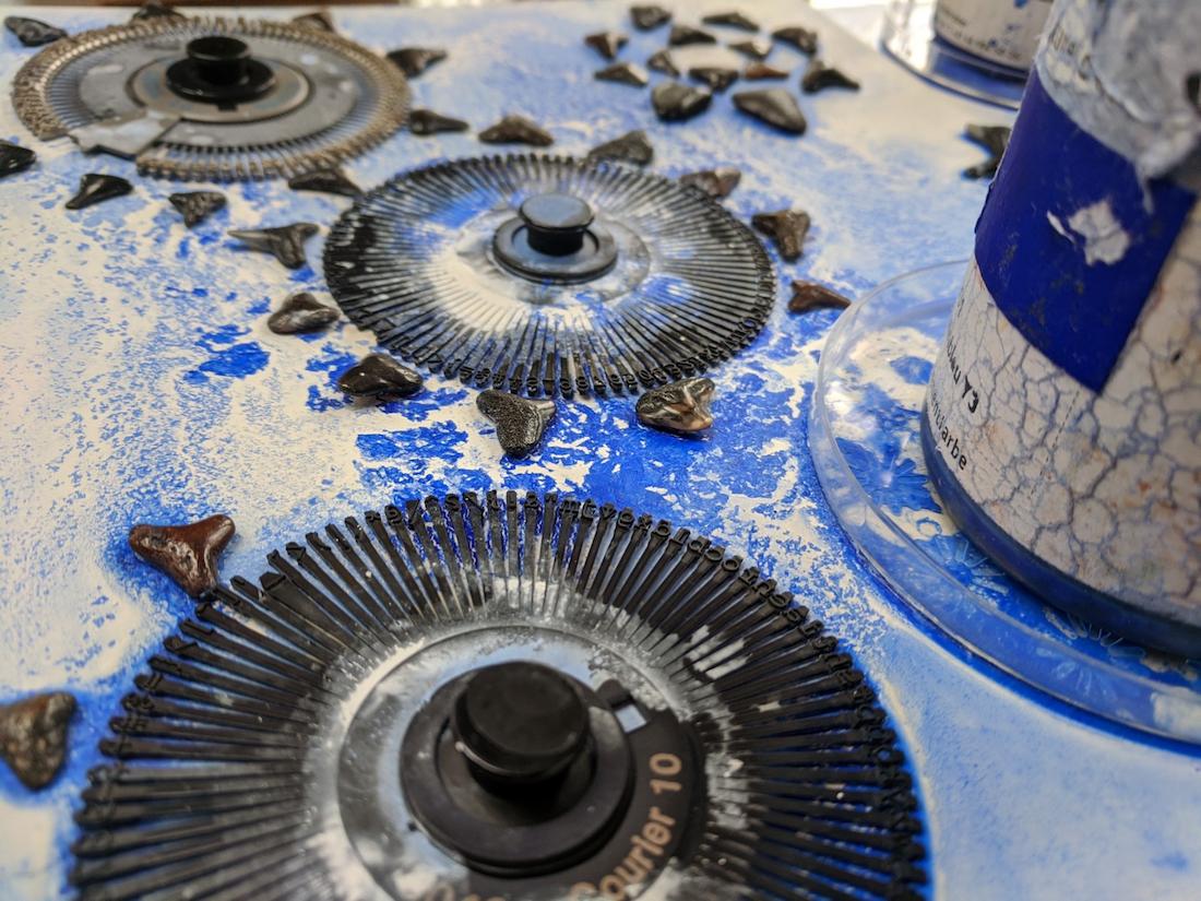 ::EHF 2020 exhibitions:EHF_blue pinwheels_2020:blue pinwheels in process.jpg