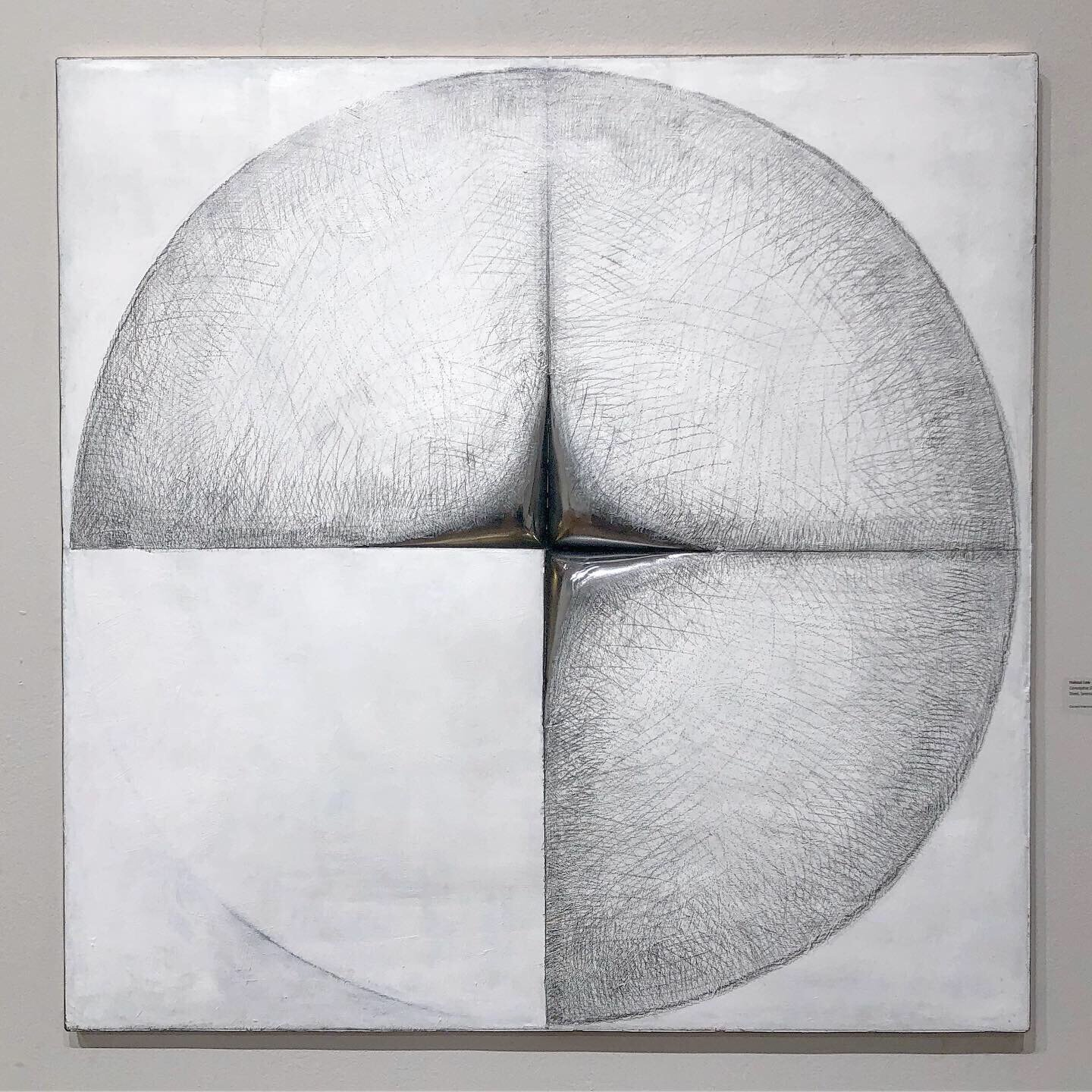 """Conceptus Et , 2019. Pencil drawing and acrylic painting on formed steel and bronze. H 36"""" x W 36"""" x D 5"""""""